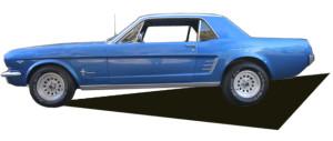 1966 Mustang Blue